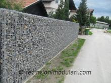 Gabbioni 4 - lato della strada, parete insonorizzata