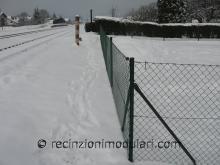 Recinzione del reticolato 4 - filo metallico, giardino